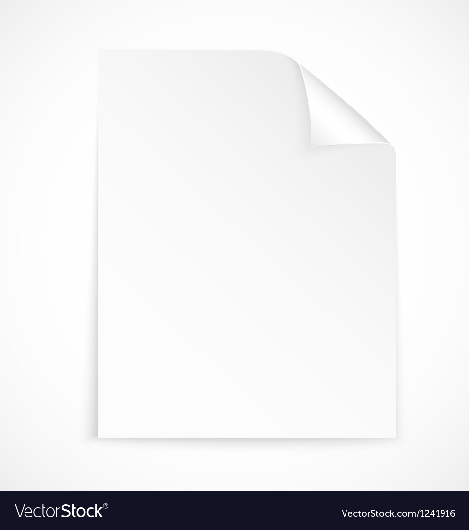 Blank letter paper icon vector