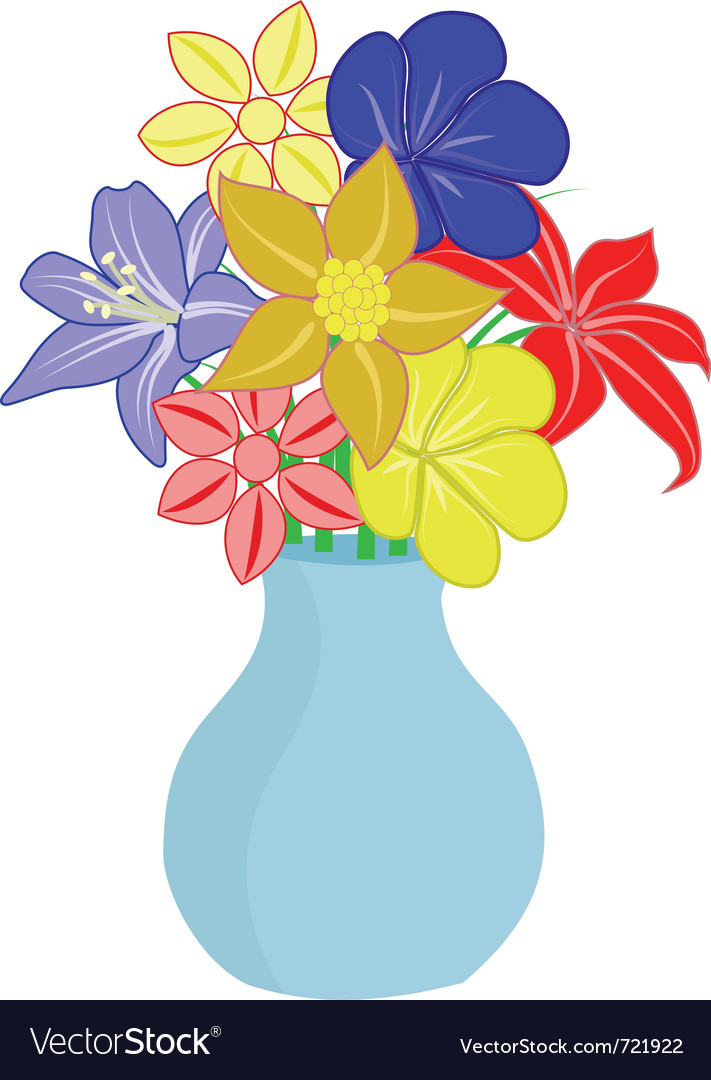 Cartoon Flowers In A Vase Vase And Cellar Image Avorcor