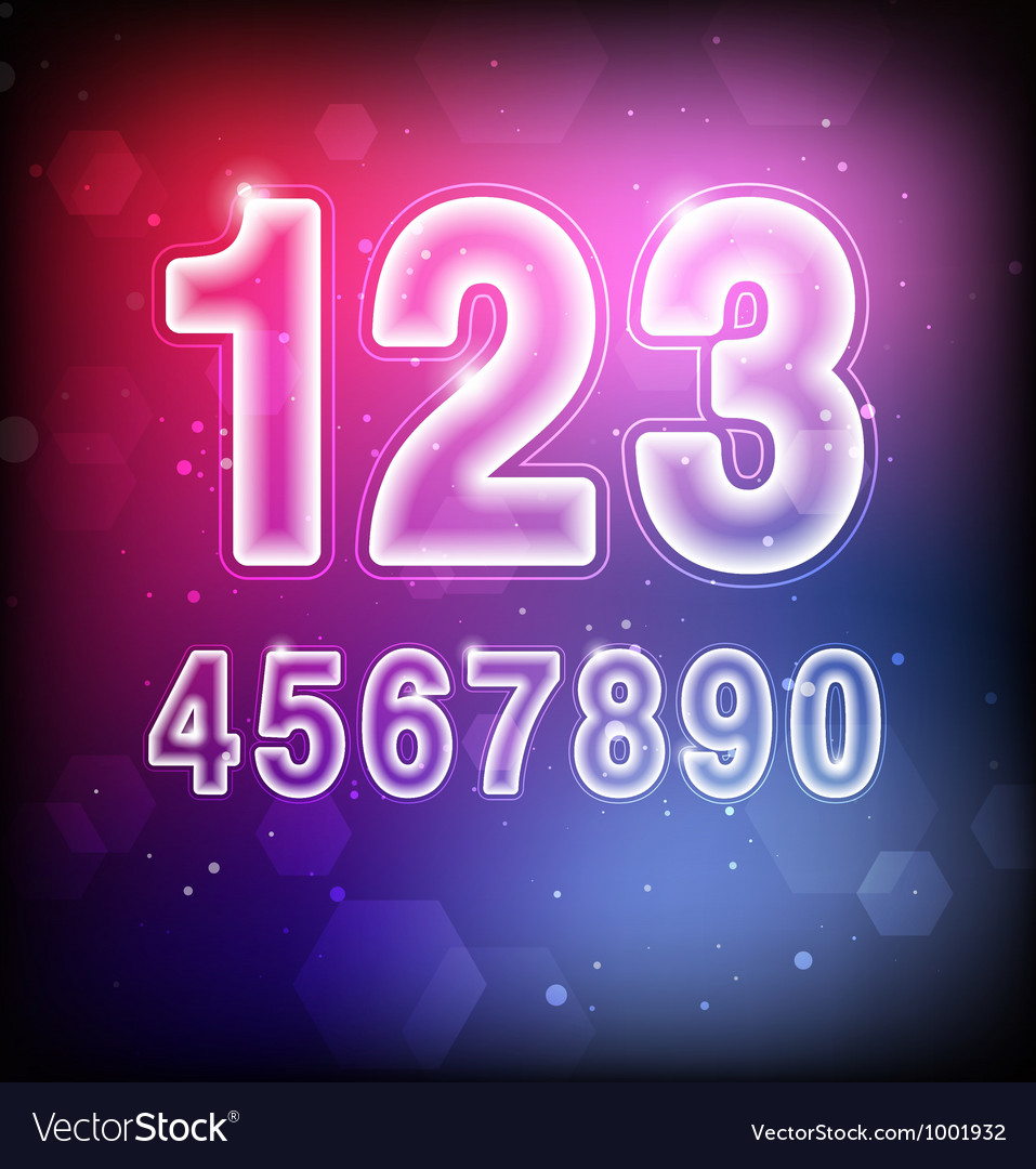 Abstract numbers vector