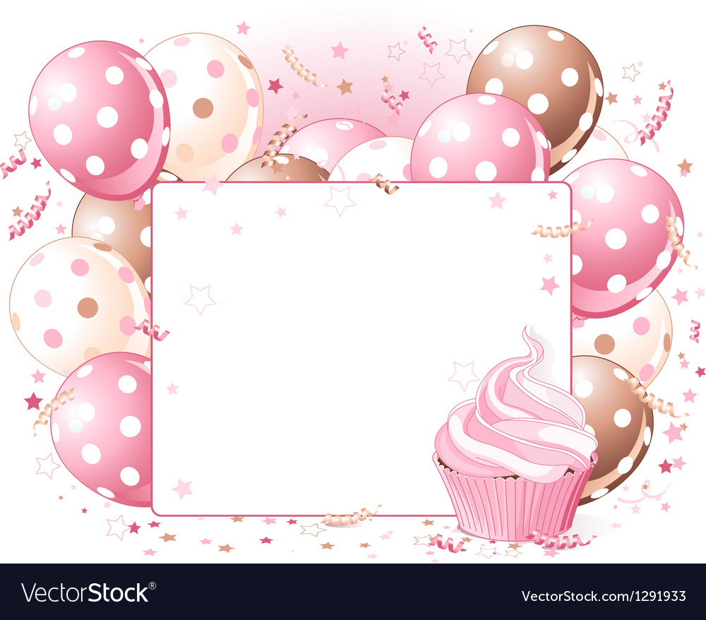 Balloons place card vector