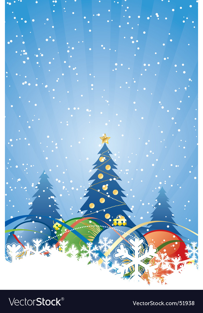 Christmas winter vector