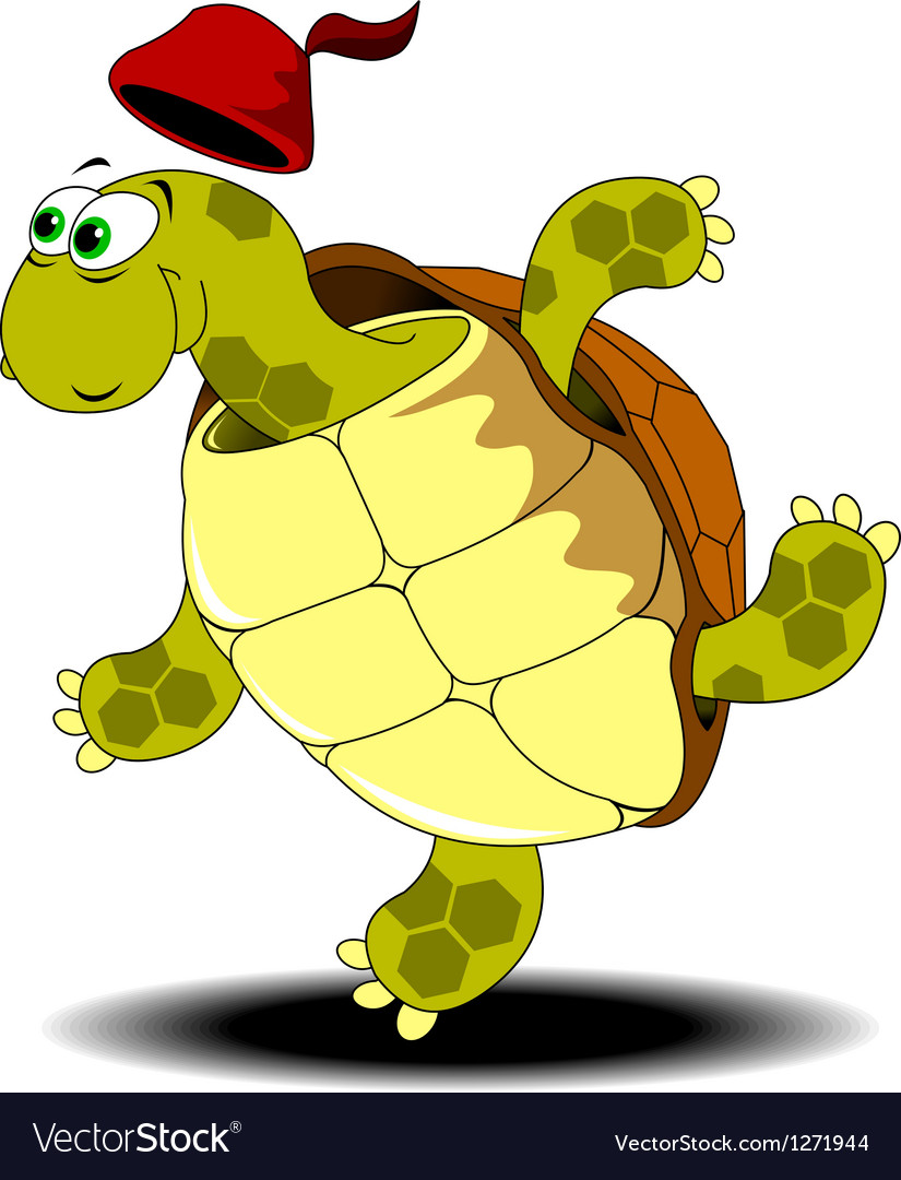 Funny turtle vector