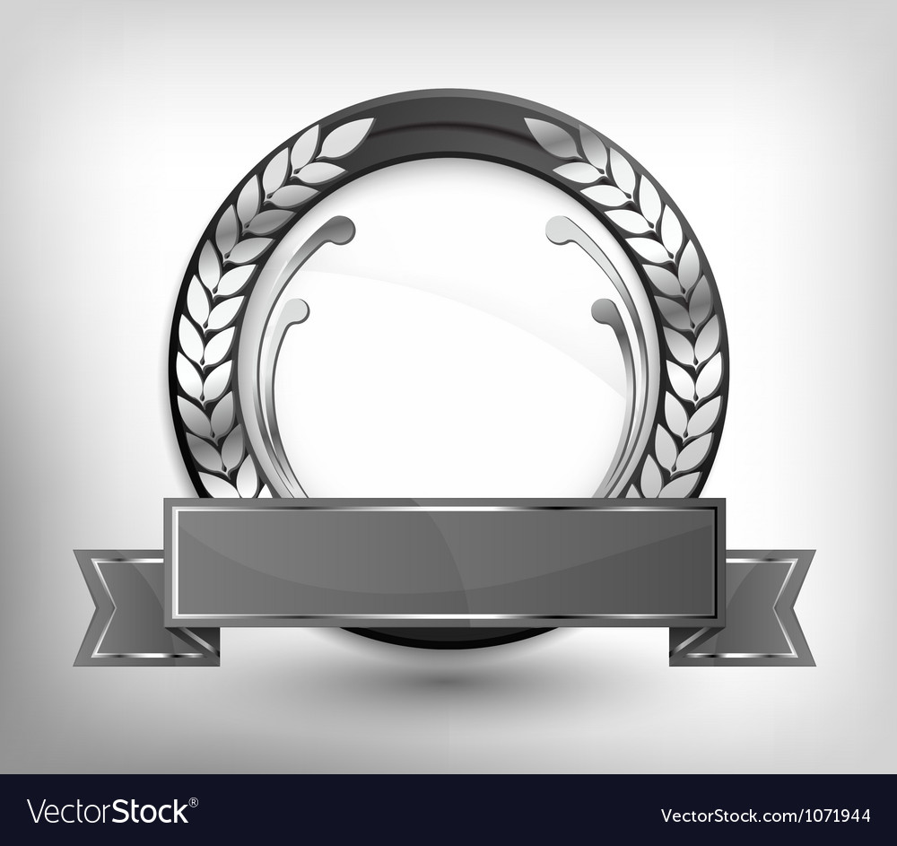 Labels gray shield vector