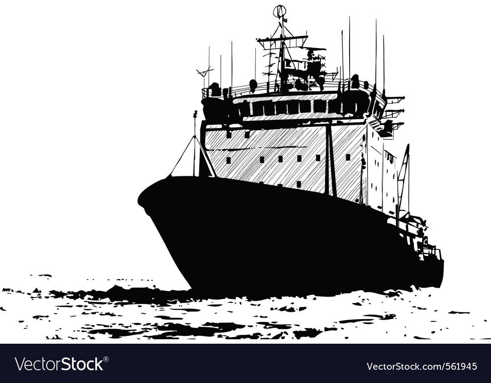 Ship sketch vector