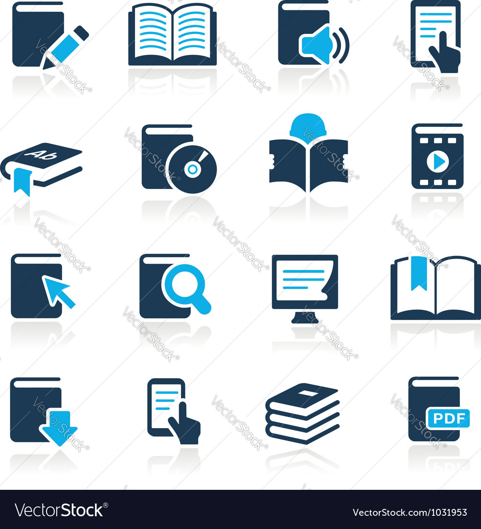 Book icons azure series vector
