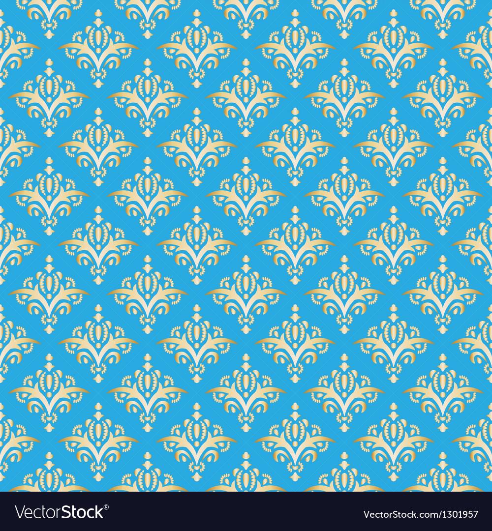 Damask seamless pattern texture elegant luxury vector