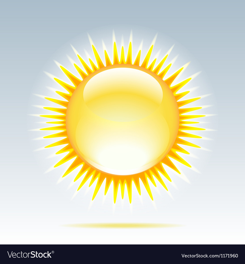 Shiny sun in the sky vector
