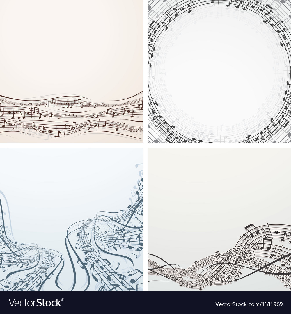 Collection of musical backgrounds graphics vector