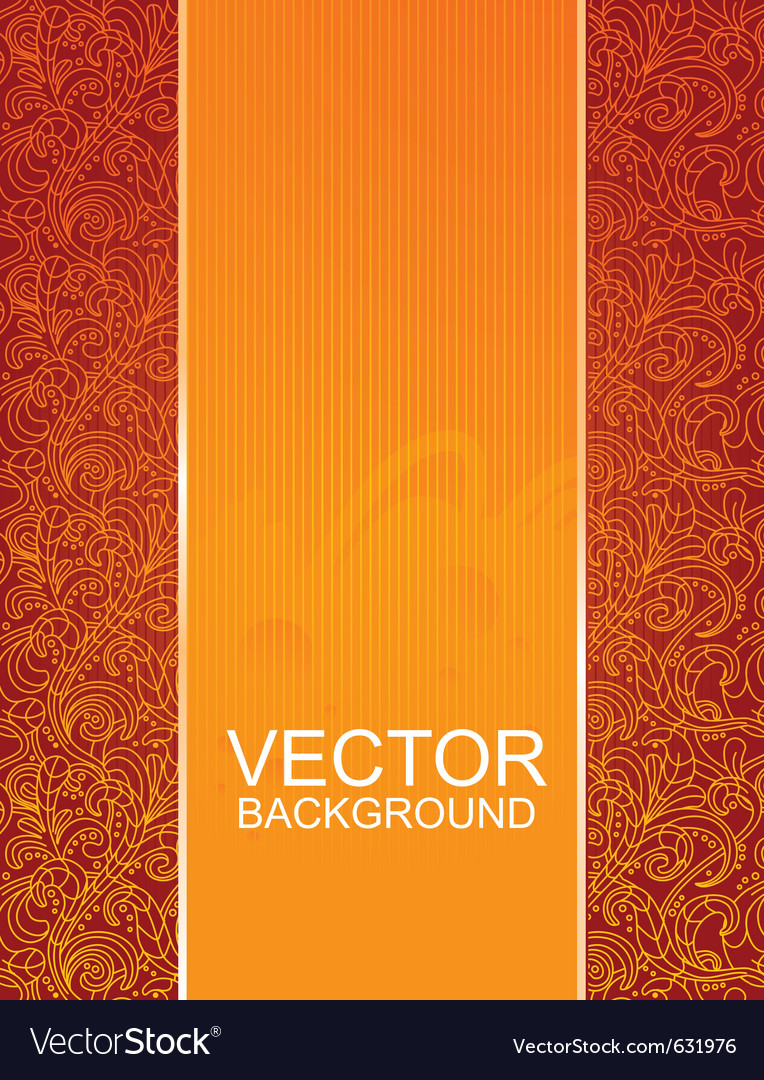 Floral beautiful red background vector