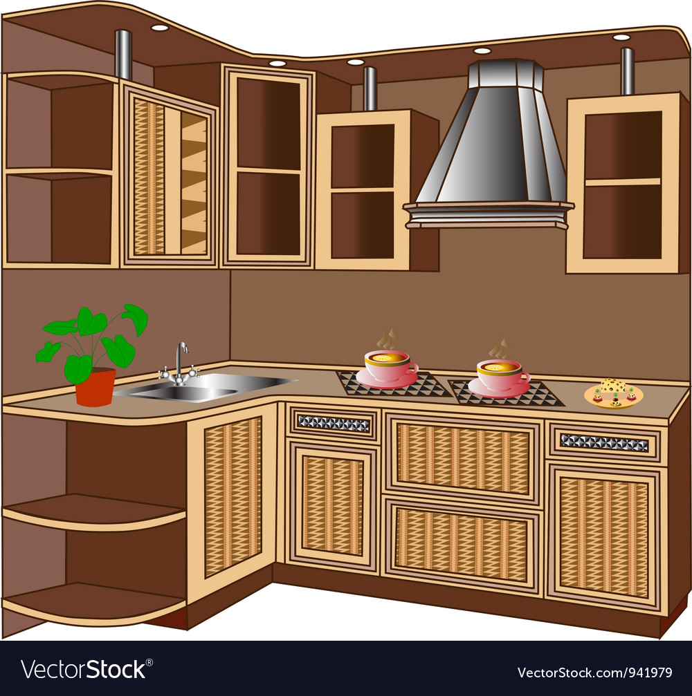 Kitchen unit vector