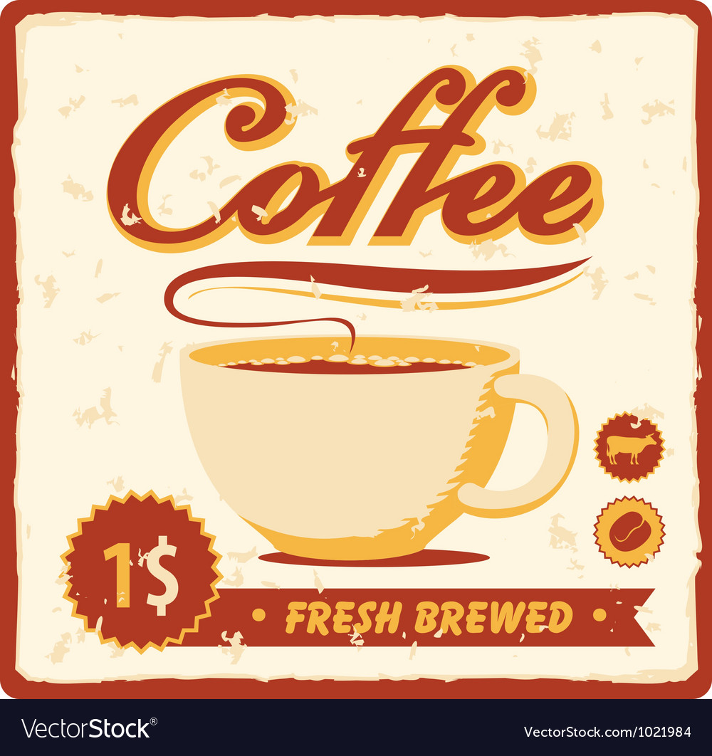 Fresh brewed vector