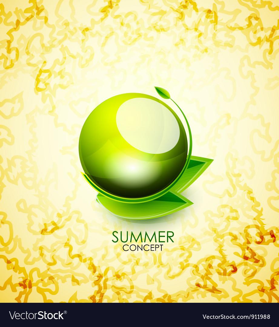Summer concept vector