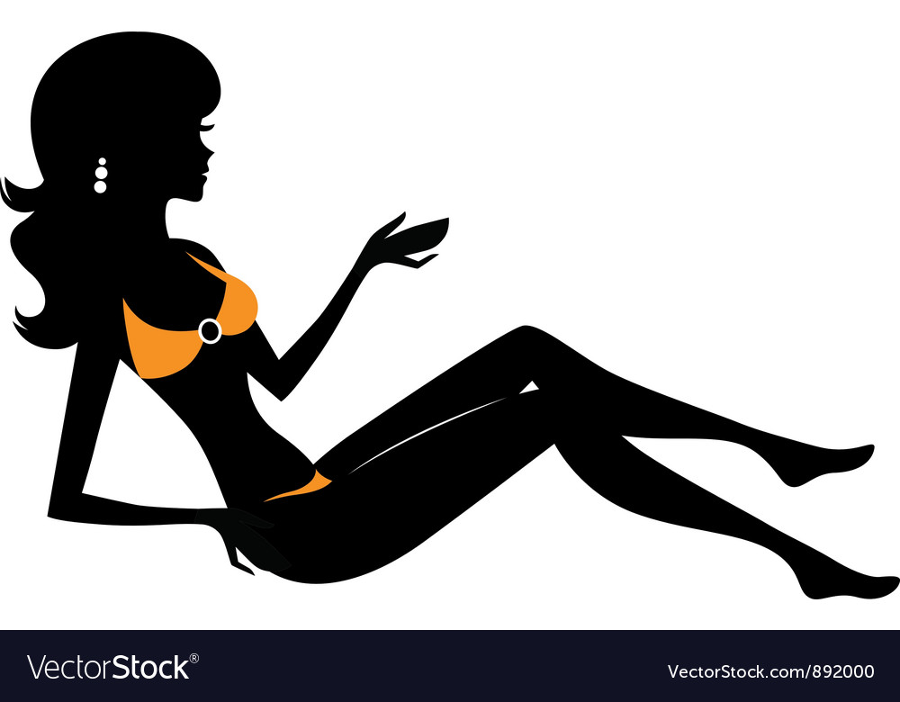 Bikini woman vector