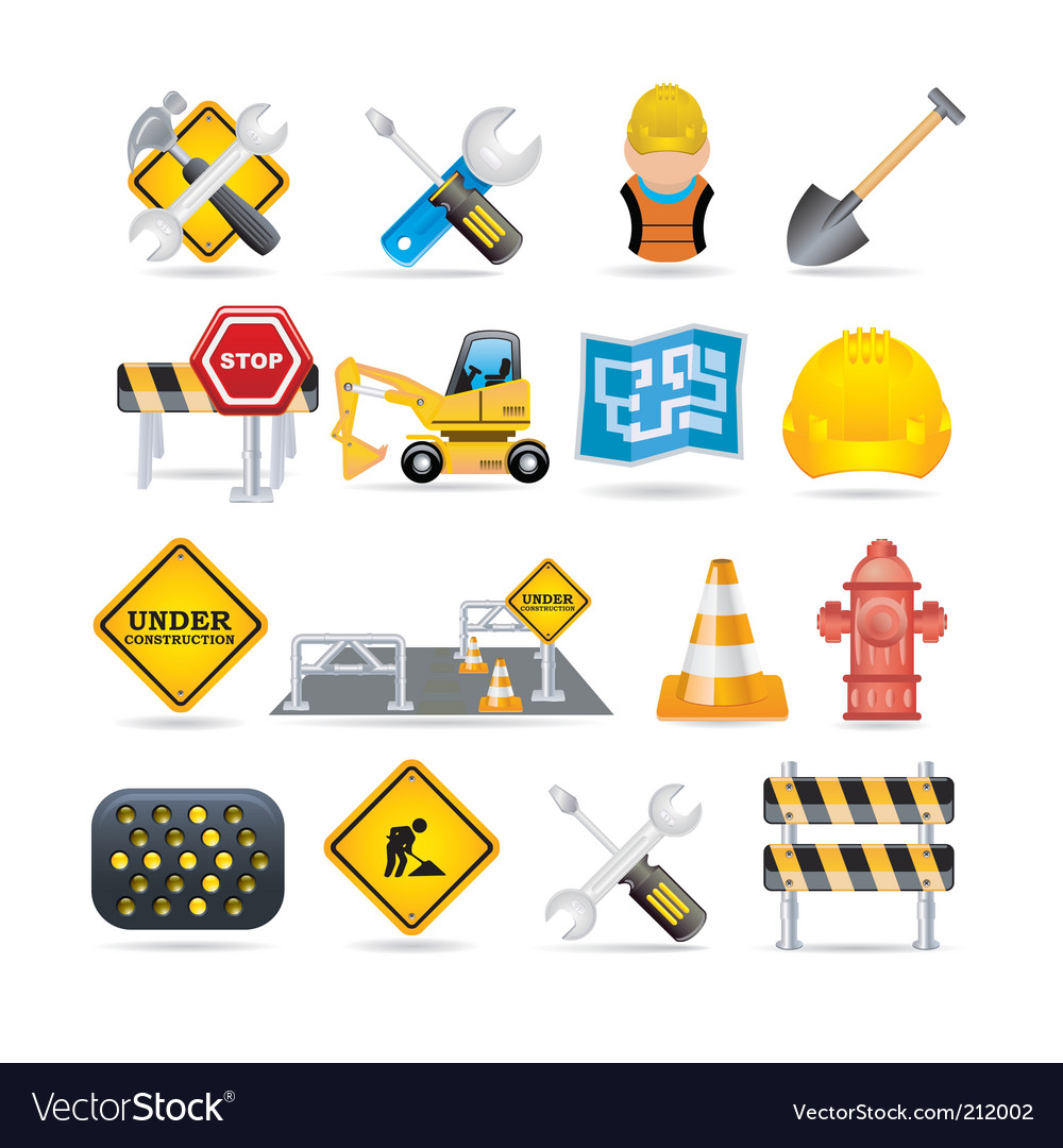 Road icon set vector