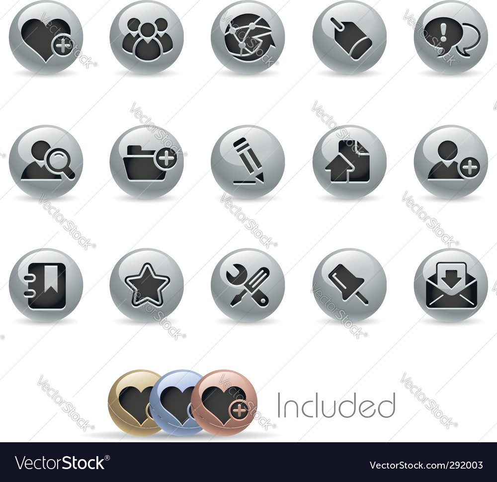 Blog and internet icons vector