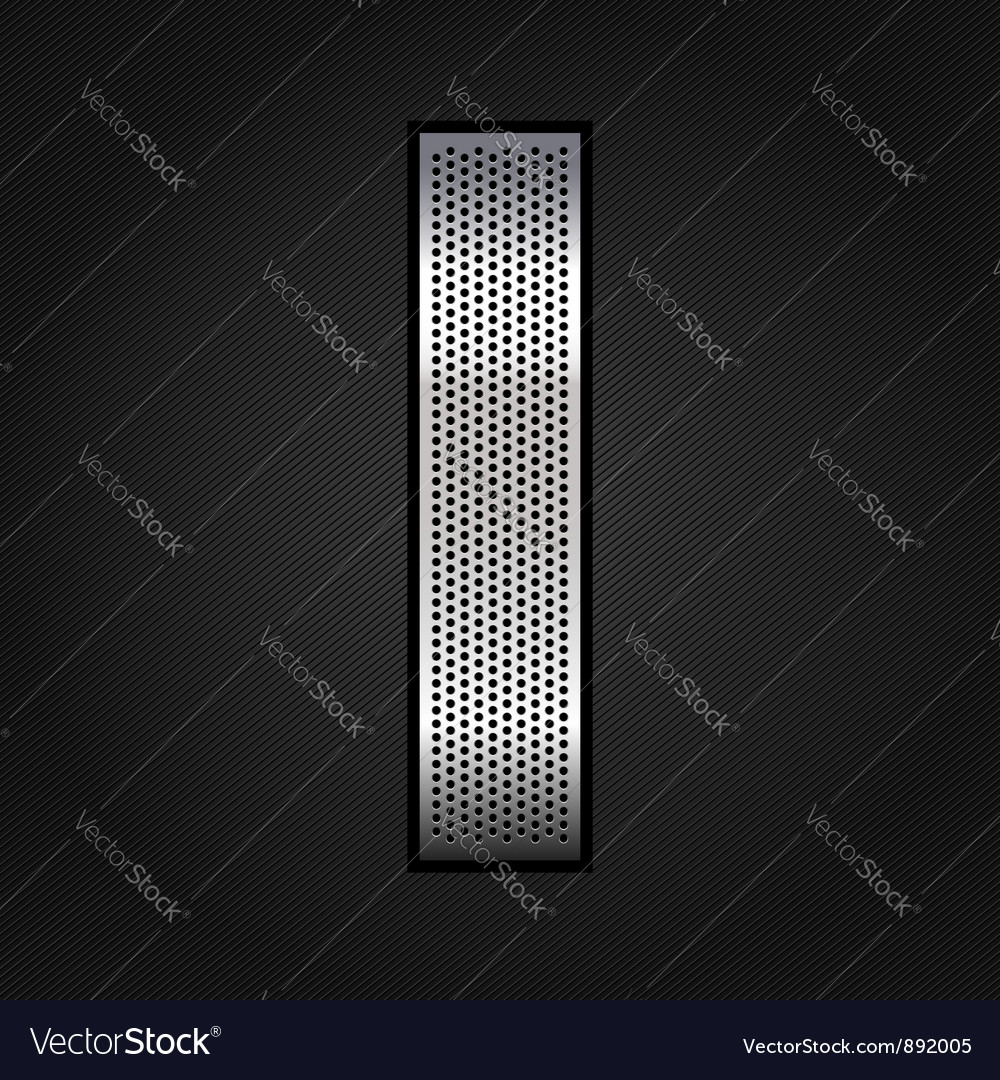 Letter metal chrome ribbon  i vector