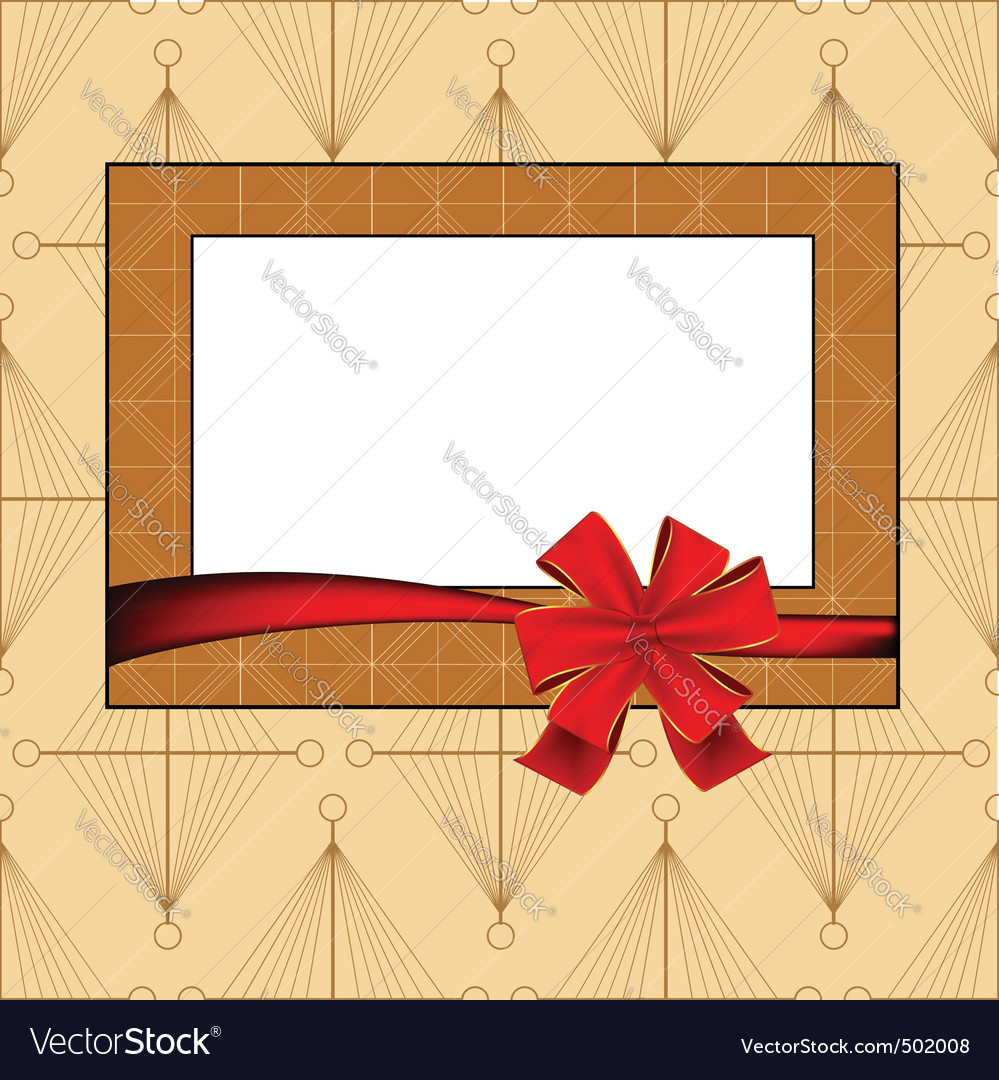 Vintage photo frame vector