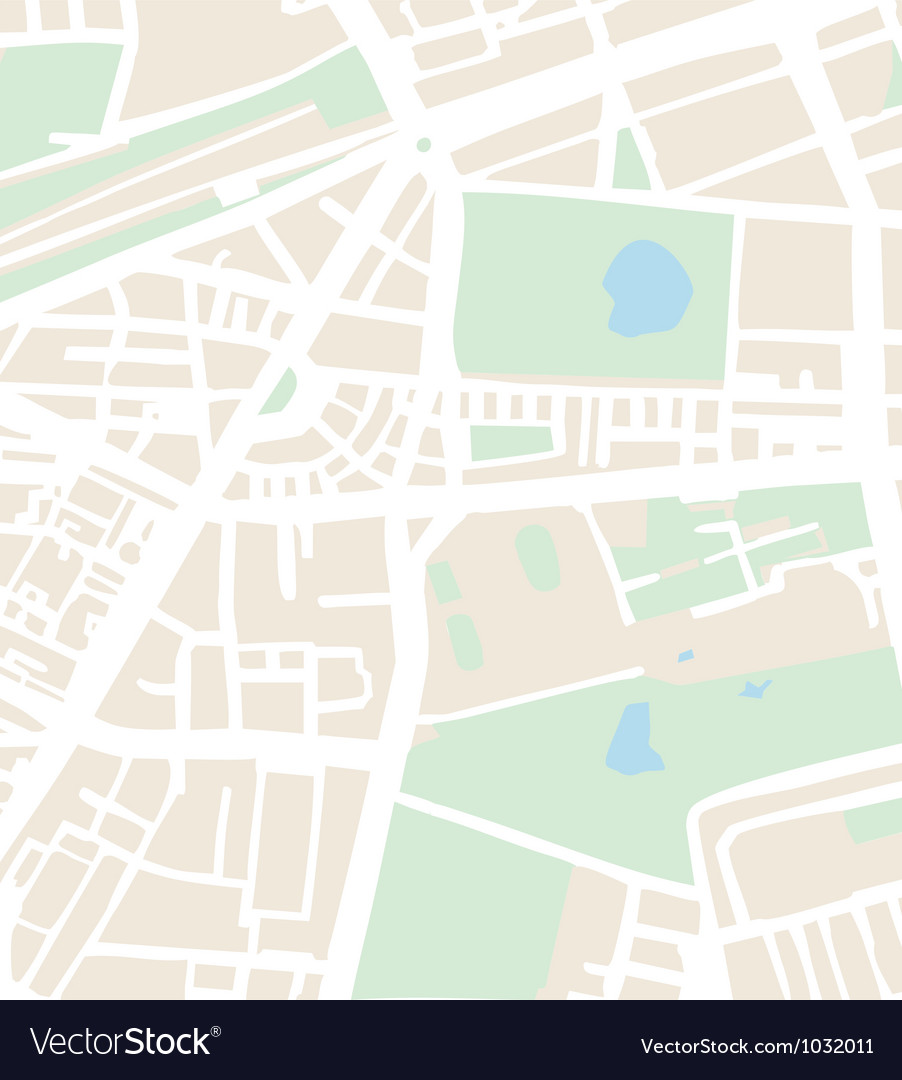 Abstract city map with streets vector