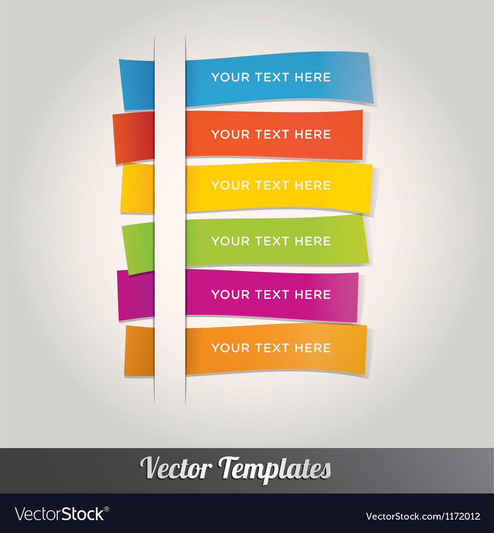 Template design colorful vector