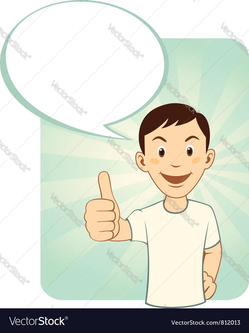 Thumbs up man vector