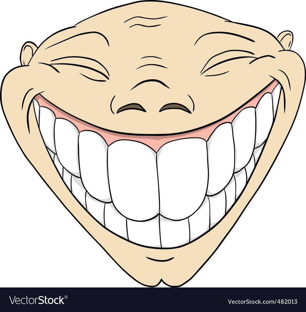 Toothy smile vector Big Cartoon Smile