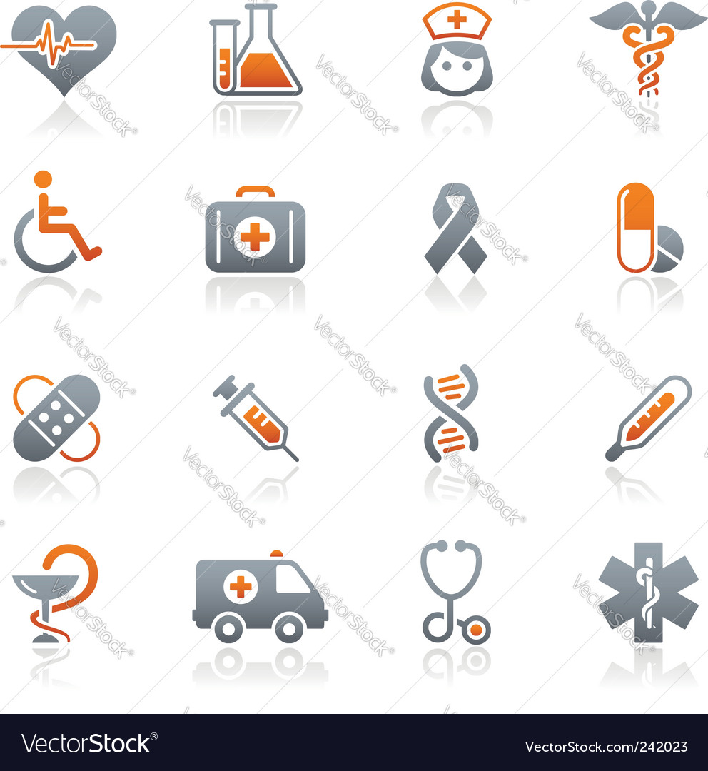 Medicine and heath care icons vector