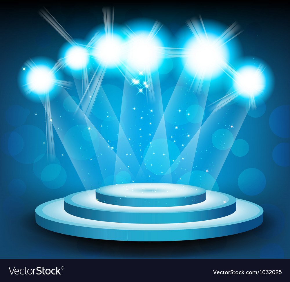 Background with stage and light vector