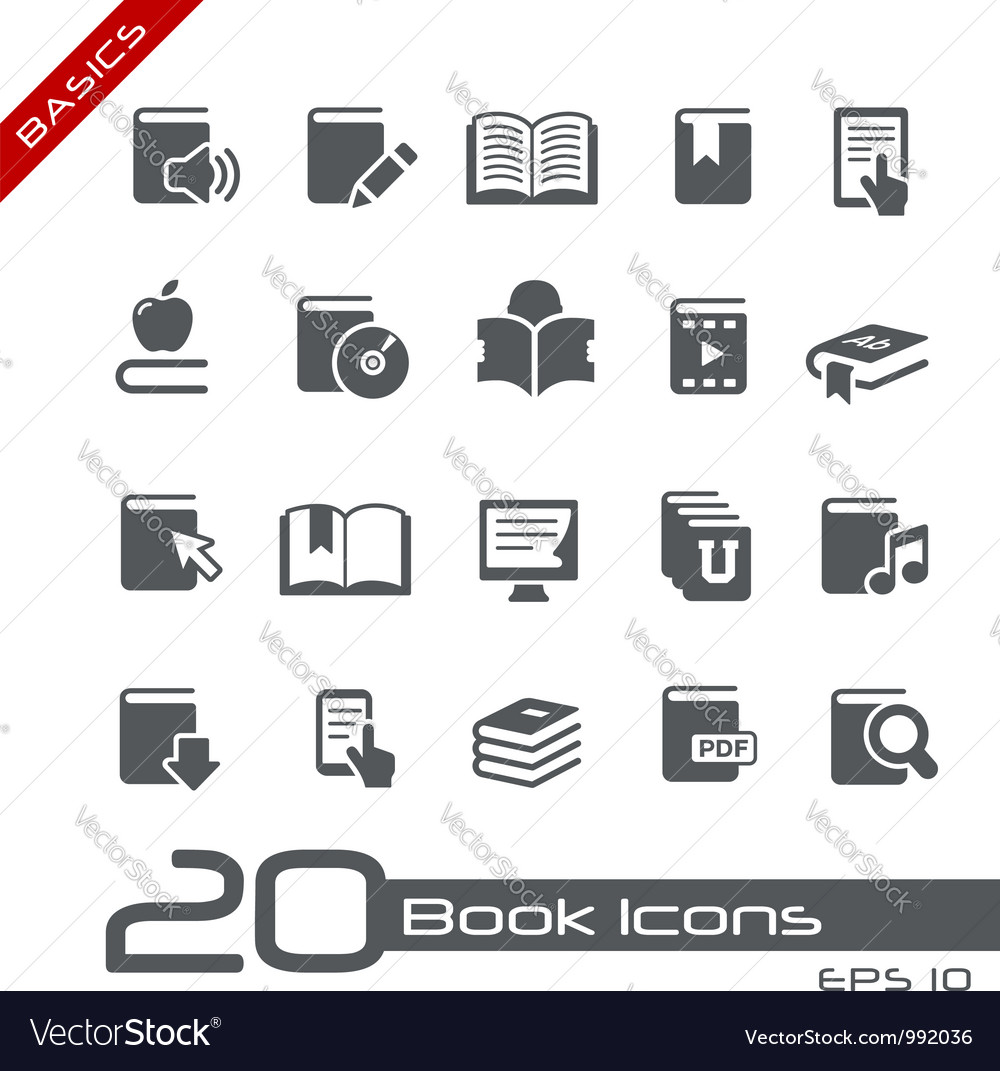 Book icons basics series vector