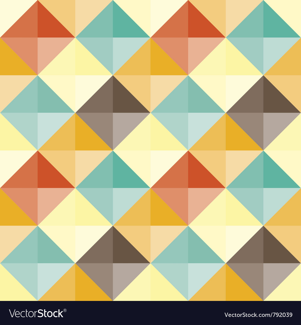 Abstract geometric pattern retro vector