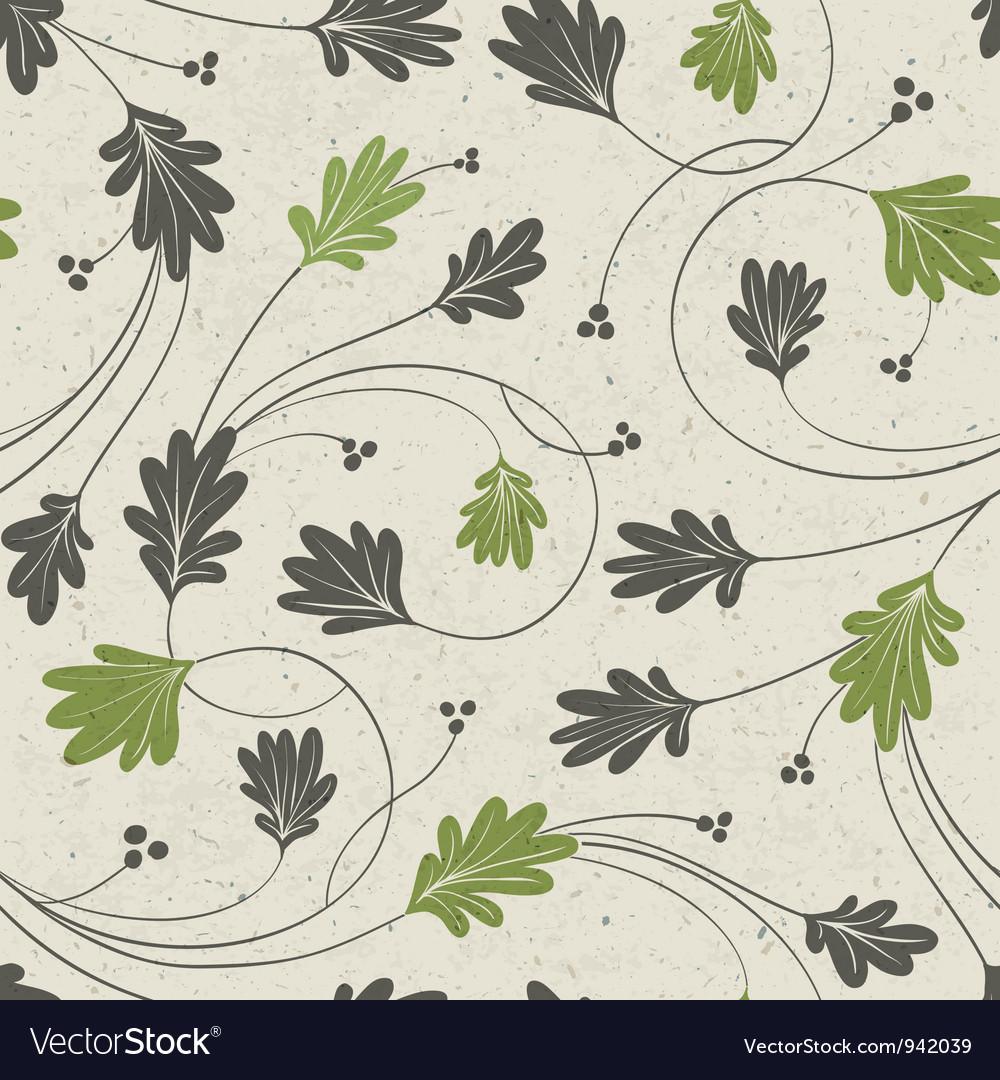 Oak leaves seamless vector
