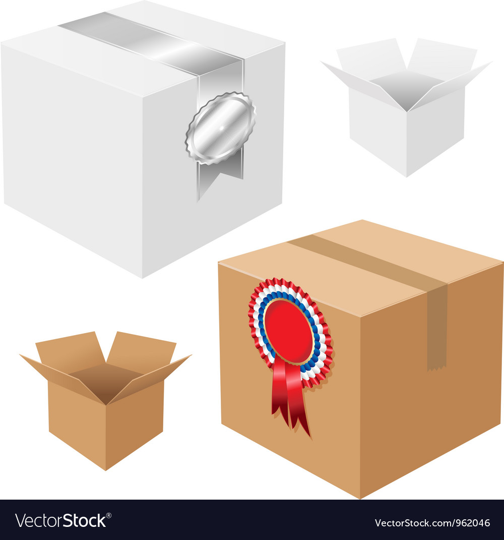 Carboard boxes vector