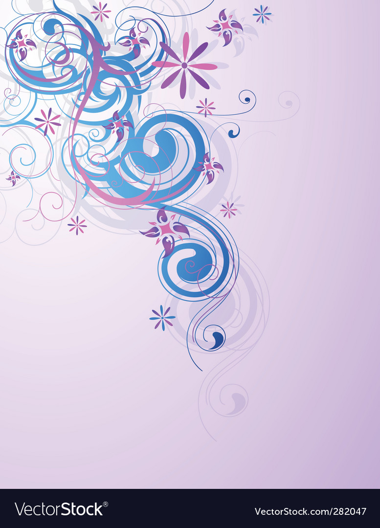 Floral and decorative design vector