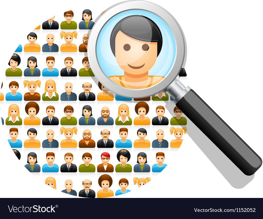 Search in social network vector