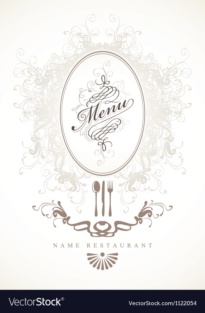 Baroque menu vector