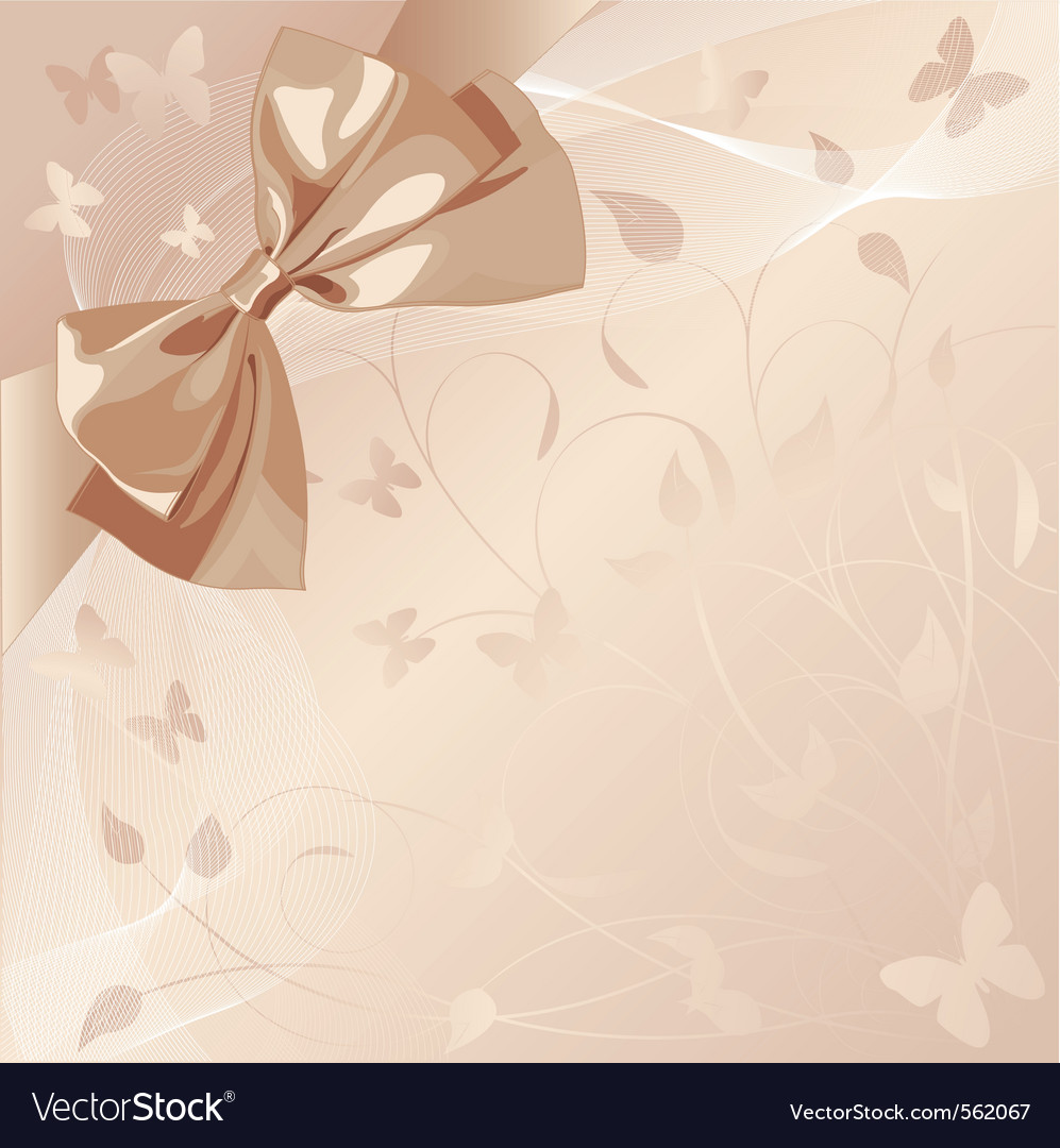 Romantic design with bow vector