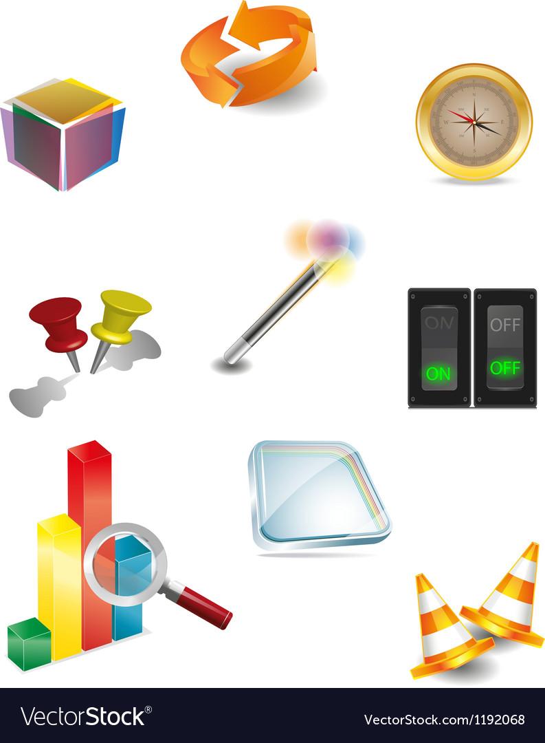 3d icon 2 vector