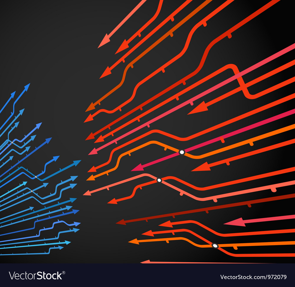 Abstract background of metro lines vector