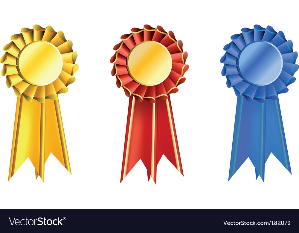 Set award ribbons vector