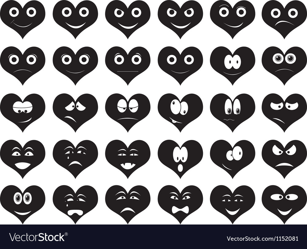 Heart smiles vector