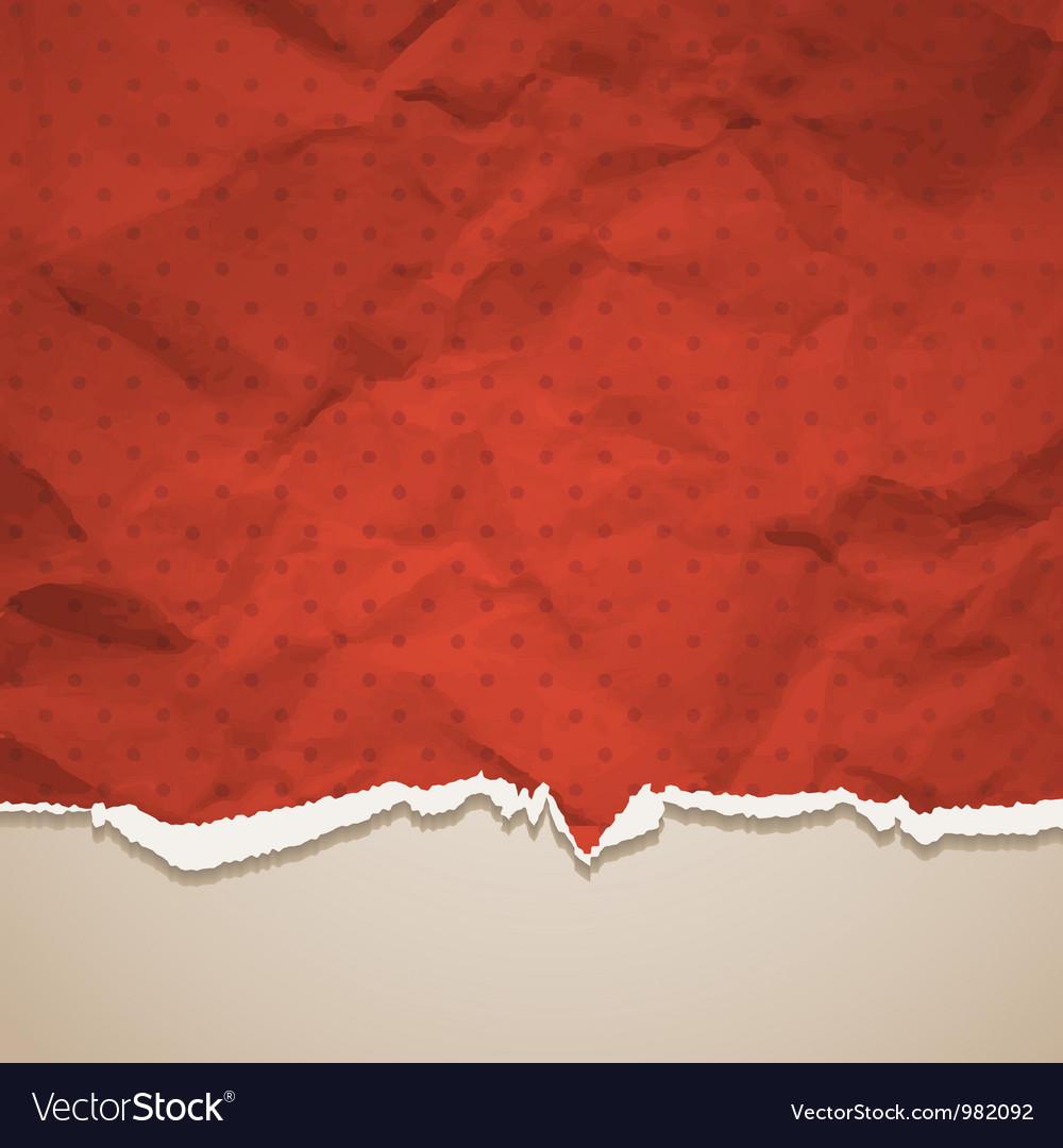 Crumpled torn paper vector