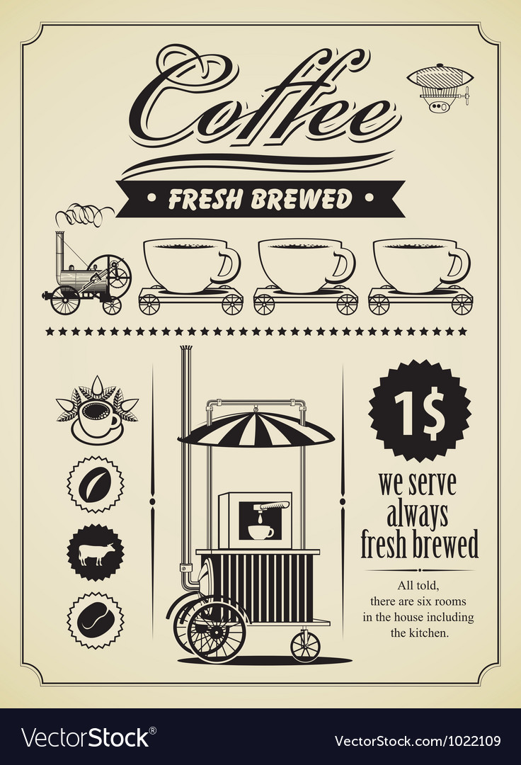 Retro coffee vector