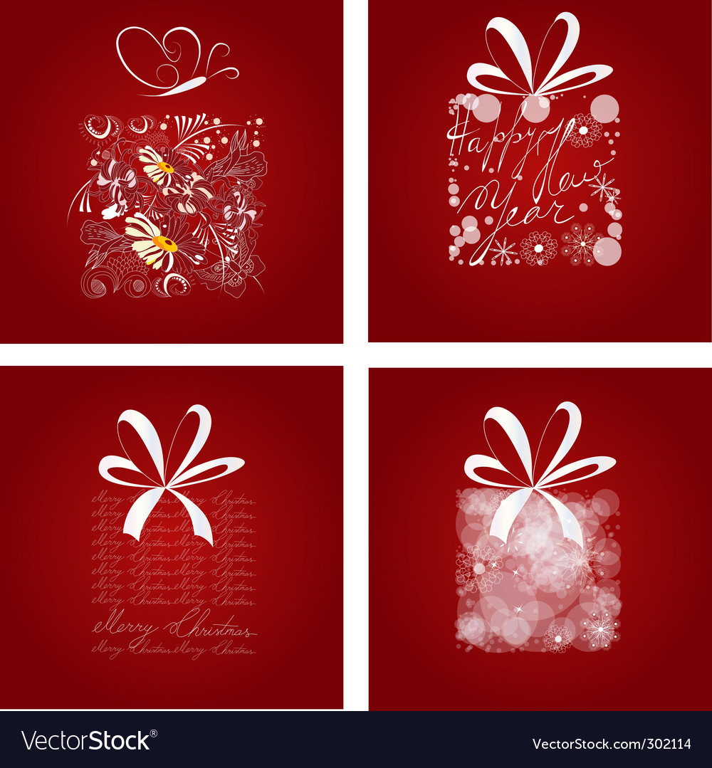 Set of christmas card vector