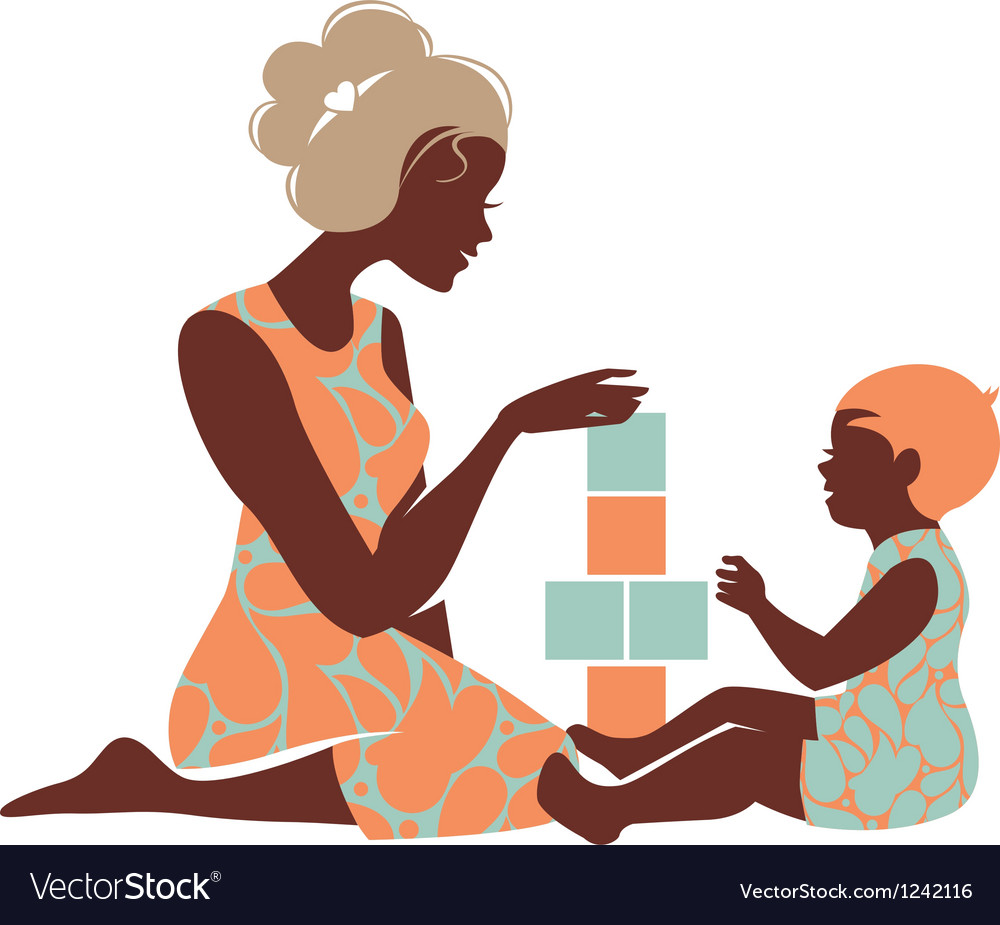 Card of happy mothers day vector