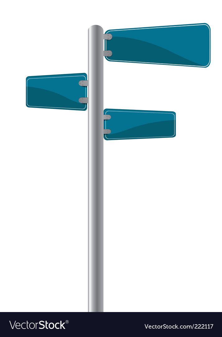 Cross street sign vector