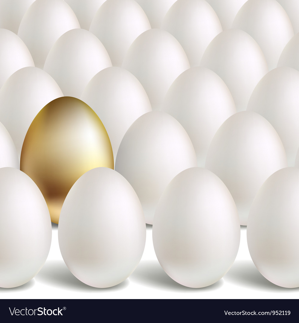 Gold egg concept vector