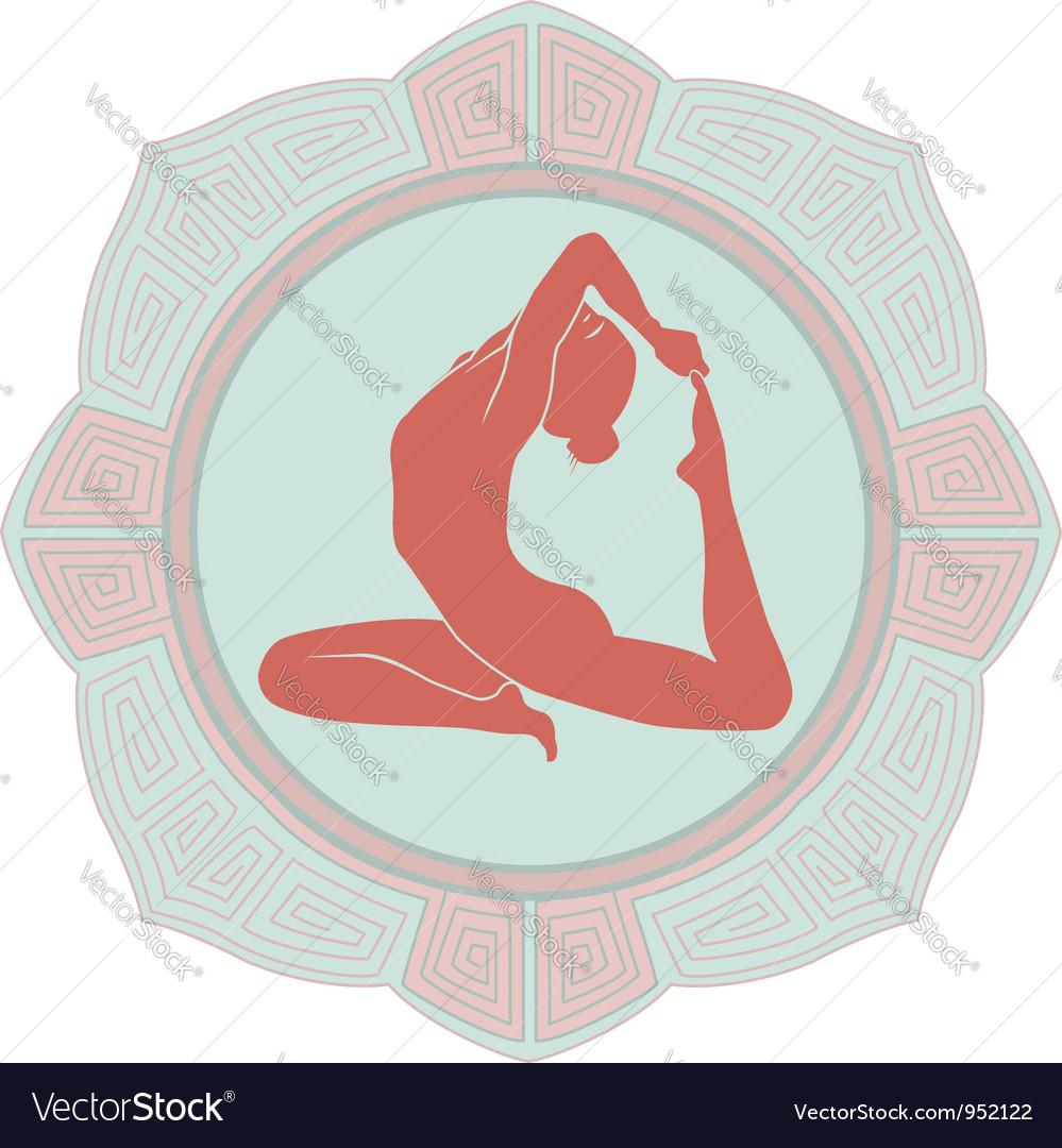 Woman yoga vector