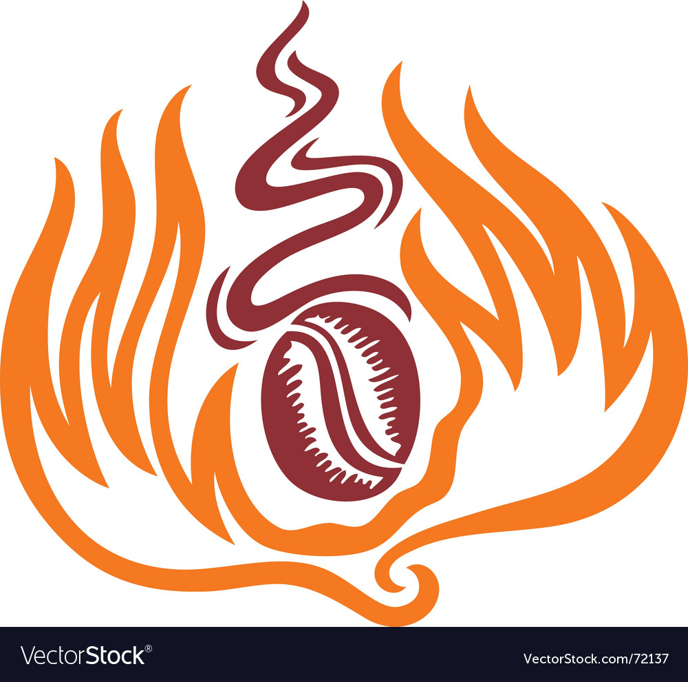 Burned coffee vector
