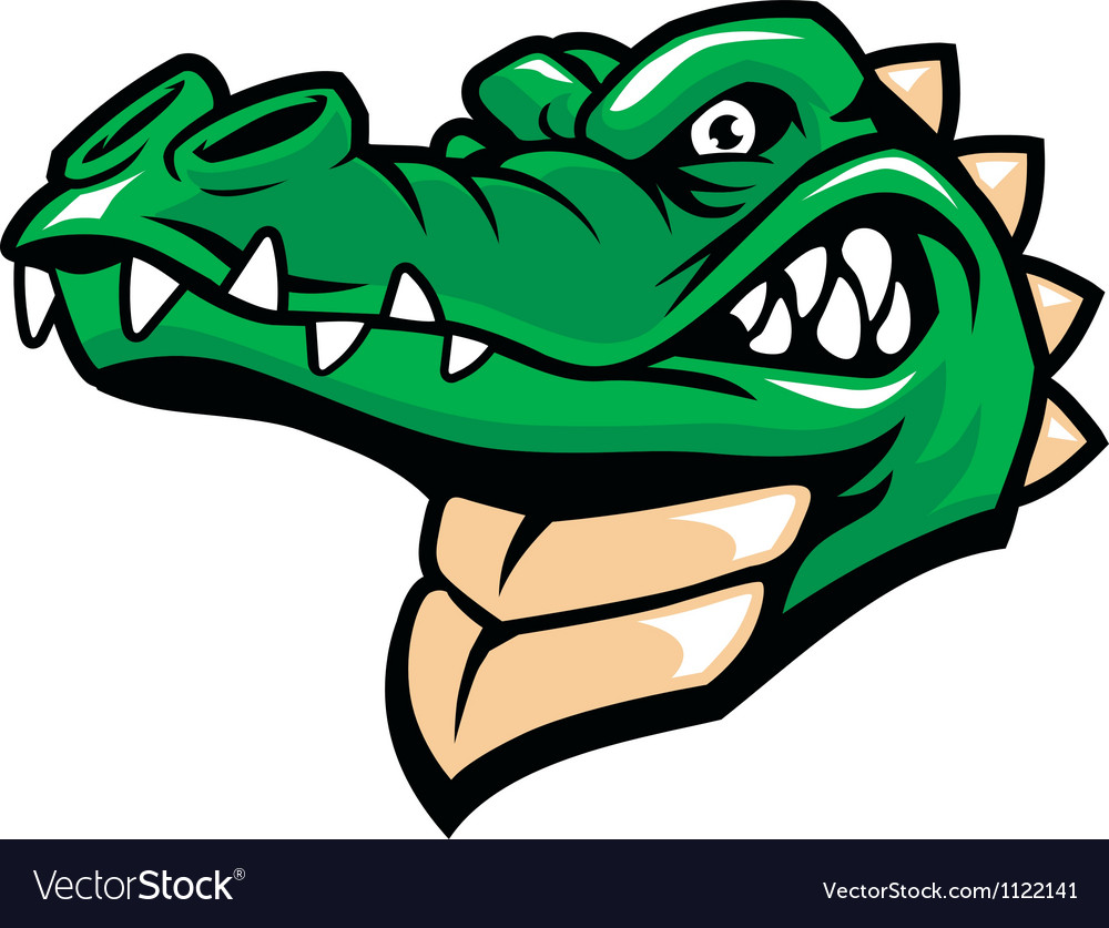 Crocodile head mascot vector