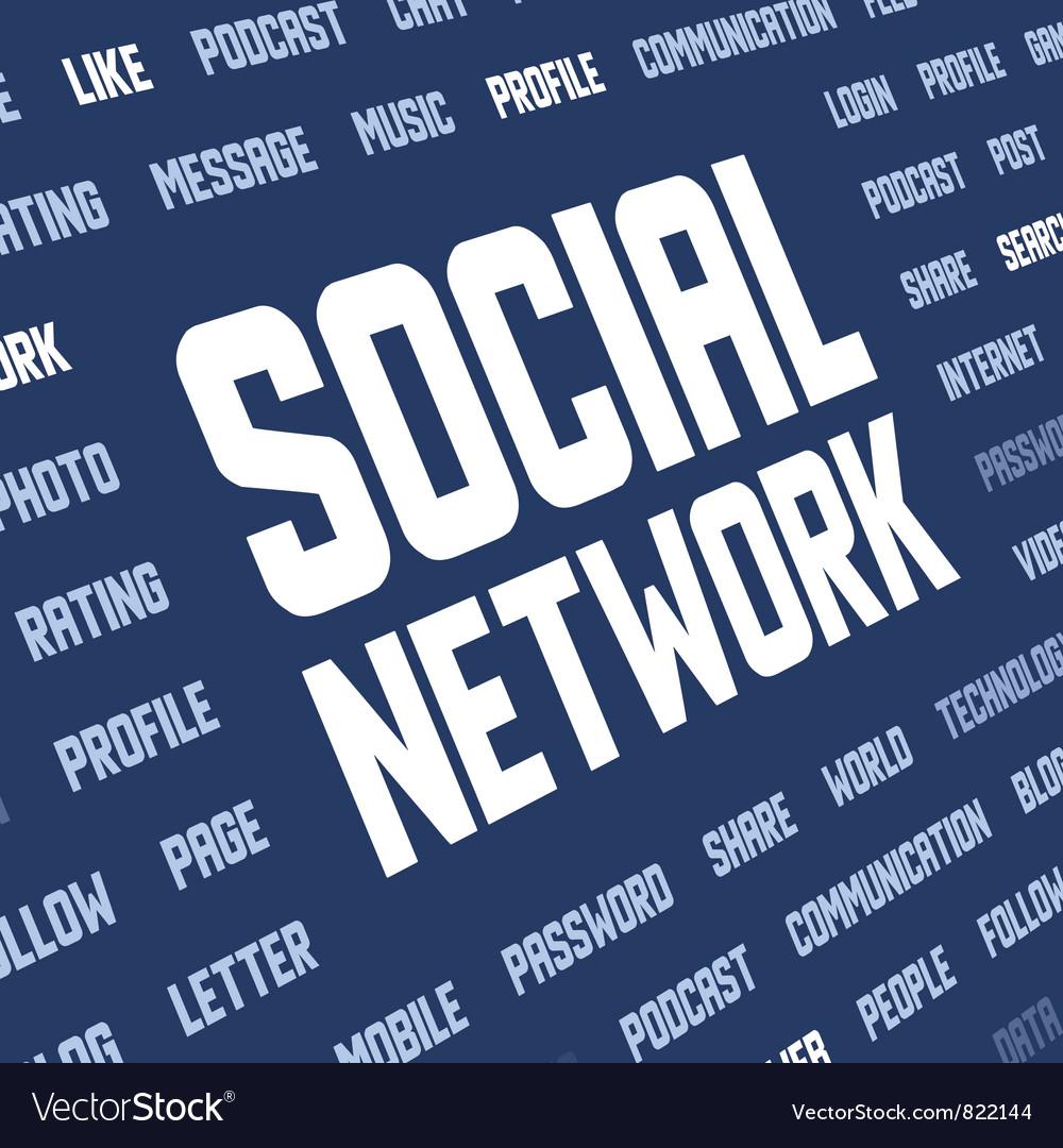 Social network keywords vector