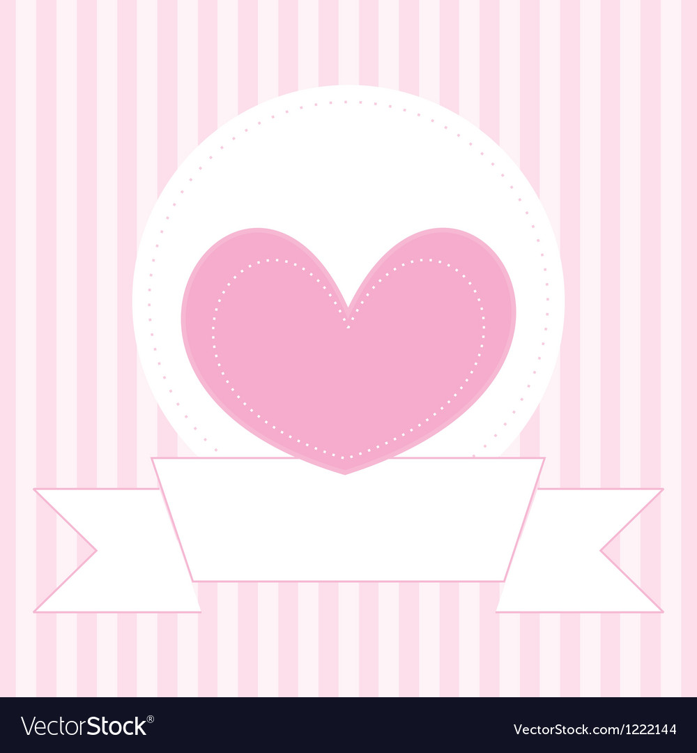 Valentines card or invitation full of love vector